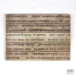 Obraz na drewnie Life Is Beautiful 102503