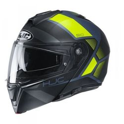 HJC KASK SYSTEMOWY I90 HOLLEN BLACK/FLO YELLOW