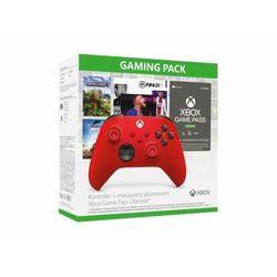MICROSOFT Xbox Series kontroler czerwony + Game Pass Ultimate 1 miesiąc