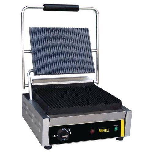 Grille gastronomiczne, Grill kontaktowy żeliwny pojedyńczy ryflowany | 2200W