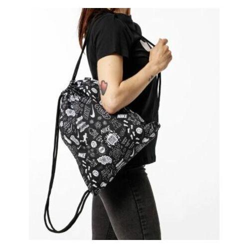 Tornistry i plecaki szkolne, Nike Sportswear Plecak na sznurkach czarny / biały