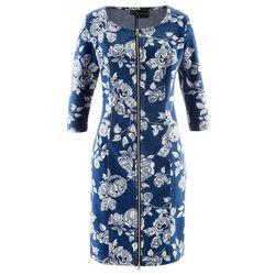 Sukienka dżinsowa bonprix niebieski dżins z nadrukiem