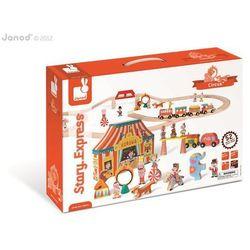 Janod - Cyrk kolejka drewniana zestaw 52 części
