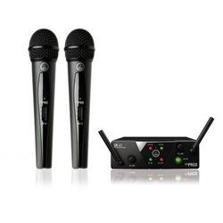 AKG WMS40 mini dual Vocal Set US45 A/C mikrofon bezprzewodowy podwójny (660.700 i 662.300) Płacąc przelewem przesyłka gratis!