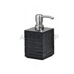 QUADROTTO Dozownik mydła stojący, czarny QU8114
