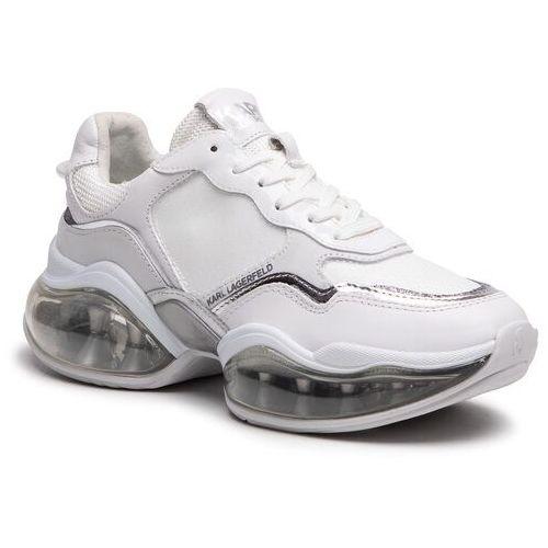 Damskie obuwie sportowe, Sneakersy KARL LAGERFELD - KL62720 White Lthr/Textile W Silver