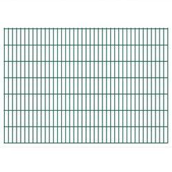 vidaXL Panele ogrodzeniowe 2D z słupkami 2008x1430 mm 32 m Zielone Darmowa wysyłka i zwroty