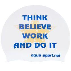 AQUA-SPORT CZEPEK THINK BELIEVE WHITE-NAVY-GOLD