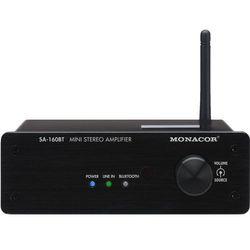 Monacor SA-160BT wzmacniacz stereo, 2x30W/8Ohm z Bluetooth Płacąc przelewem przesyłka gratis!