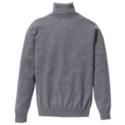 Sweter z golfem Regular Fit bonprix szary melanż