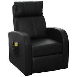 vidaXL Fotel z funkcją masażu, elektryczny, sterowany pilotem, czarny Darmowa wysyłka i zwroty
