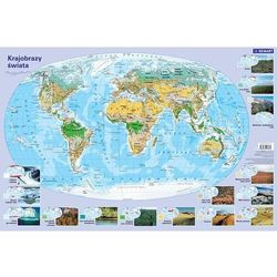 Mapa - krajobrazy świata. Podkładka na biurko - null