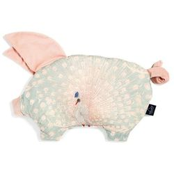 Podusia Sleepy Pig - Royal Peacock - Powder Pink - La Millou - Velvet Collection