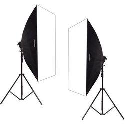 Zestaw 2 lamp światła stałego SOFTBOX 80x120 10x85W 290cm