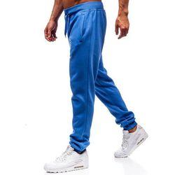 Spodnie męskie dresowe joggery jasnoniebieskie Denley XW01