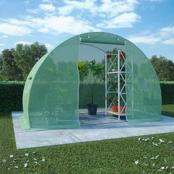VidaXL Szklarnia ogrodowa ze stalową konstrukcją, 4,5m², 300x150x200cm