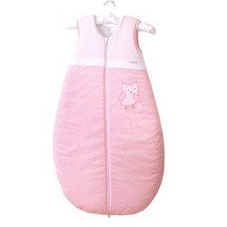 MAMO-TATO Śpiworek haftowany Sówki uszatki różowe 86-110
