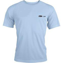 TTK R-NECK CAPSULE LIGHT BLUE - koszulka tenisowa R. L
