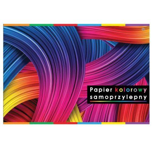 Pozostałe artykuły papiernicze, Papier kolorowy samoprzylepny holograficzny - zeszyt B5 8 kartek (mix wzorów)