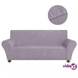 vidaXL Elastyczny pokrowiec na sofę, z dżerseju, szary Darmowa wysyłka i zwroty