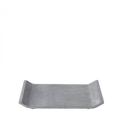Tace i patery, Taca dekoracyjna Moon ciemnoszara 19 x 29 cm
