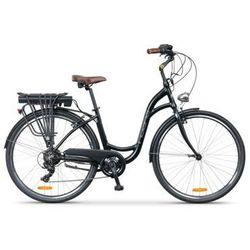 Rower elektryczny INDIANA E-City D17 Czarny | 5 LAT GWARANCJI NA RAMĘ DARMOWY TRANSPORT
