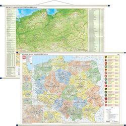 Polska mapa ścienna dwustronna fizyczno-administracyjna 1:700 000