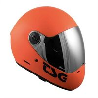 Ochraniacze na ciało, kask TSG - pass solid color (+ bonus visor) matt orange (127) rozmiar: M