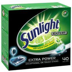 SUNLIGHT 40szt All in 1 Expert Tabletki do zmywarek z ekstraktem z cytryny