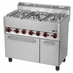 Kuchnia gazowa z piekarnikiem | 5 palników| 19930W | 990x600x(H)860/920mm