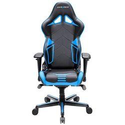 DXRacer fotel obrotowy Racing Pro RV131/NB, czarny/niebieski (RV131/NB)