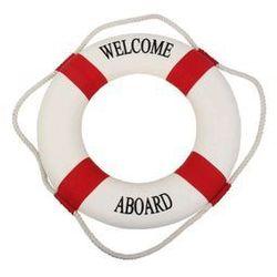 Koło ratunkowe czerwone pasy, dekoracja Life buoy red, S 15 cm