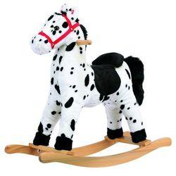 Bino koń na biegunach pluszowy siwy