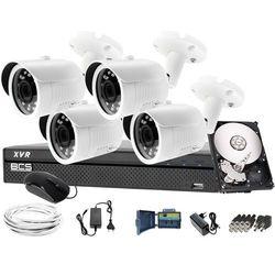 Zestaw do monitoringu: Rejestrator BCS-XVR0801, 4 x Kamera LV-AL30HTW-S + dysk 1TB+ akcesoria