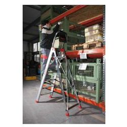 Profesjonalna drabina aluminiowa Faraone 7 stopniowa Domus 7 wysokość robocza 3,36 m