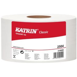 Papier toaletowy Katrin Classic Gigant S 2, 2 warstwy, makulatura bielona - 12 rolek