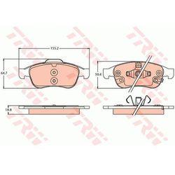 KLOCKI HAM TRW GDB2111 FIAT 500X 1.4 14-, 1.6D MJ 14-/ JEEP RENEGADE 1.4 14- PRZÓD