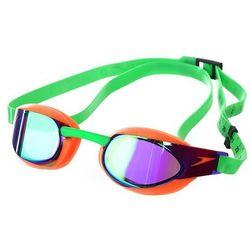 Okulary Speedo Fastskin Elite mirror pomarańczowo-fioletowo-zielone