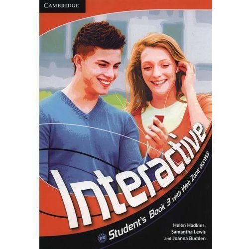 Książki do nauki języka, Interactive 3 Książka Ucznia Plus Web Zone Access (opr. miękka)
