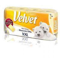 Papier toaletowy, Papier toaletowy Velvet XXL żółty 8 rolek