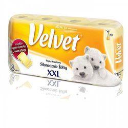 Papier toaletowy Velvet XXL żółty 8 rolek