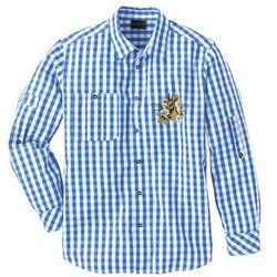 Koszula ludowa Regular Fit bonprix niebieski lodowy - biały w kratę