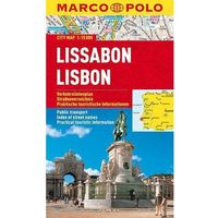Mapy i atlasy turystyczne, Lizbona / Lisboa 1:15 000. Laminowany plan miasta. Marco Polo (opr. miękka)