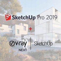 SketchUp Pro 2019 PL + V-Ray + Skatter