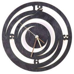Drewniany zegar na ścianę Spirale ze złotymi wskazówkami Dekoracje drewniane na ścianę (-10%)