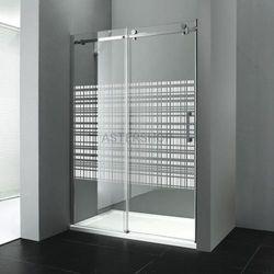 DRAGON drzwi prysznicowe do wnęki 120x200cm lewe szkło canvas GD4912SL