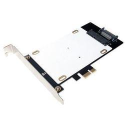 LogiLink Karta PCI Express, 1 x HDD/SDD + 1 x mSATA