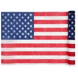 Dekoracja bieżnik na stół Flaga USA - 30 cm - 1 szt.