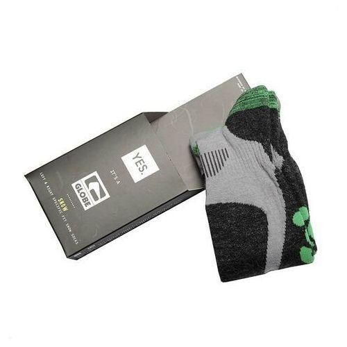 Odzież do sportów zimowych, skarpetki GLOBE - Yes/Globe Pow Pow Sock Grey/Lime (GRYLIM)