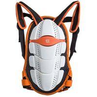 Motocyklowe ochraniacze kręgosłupa, Ochraniacz pleców Spartan Junior pomarańczowo-biały, S